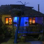 La Nogala de noche iluminada