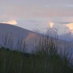 Montes nevados desde Labaniego