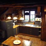 Vista de la cocina-comedor