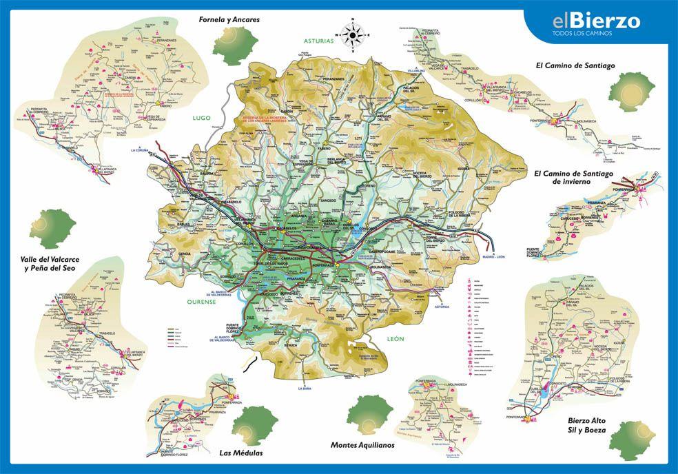 Mapa Del Bierzo Leon.El Bierzo Casas Rurales Y Turismo Rural En El Bierzo Alto Y Labaniego